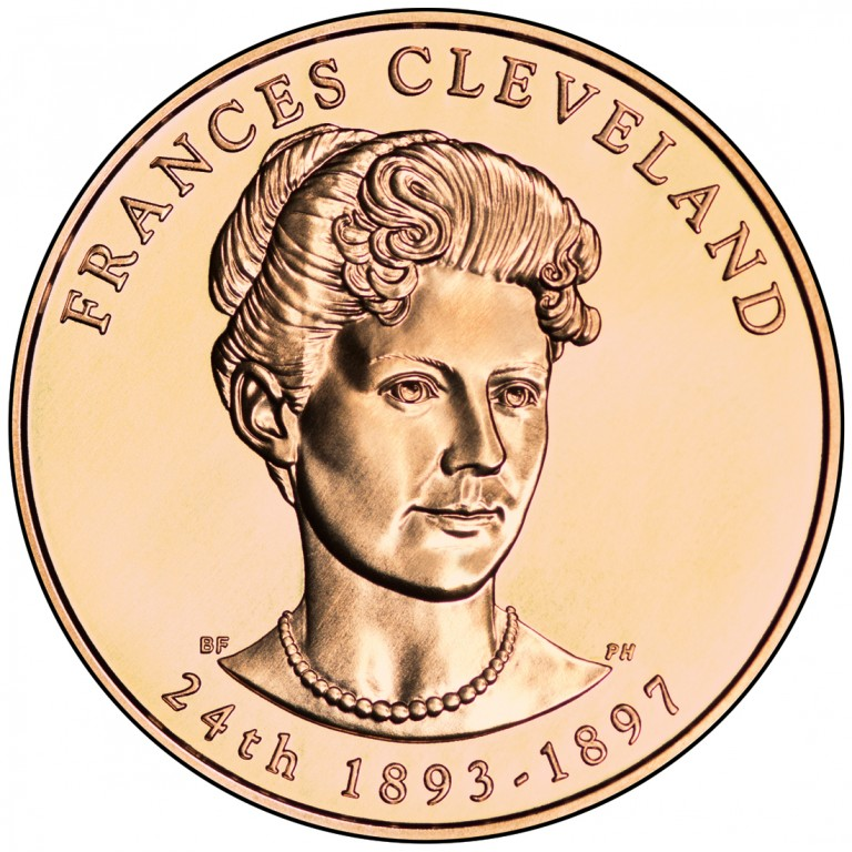 Frances Cleveland Second Term First Spouse Bronze Medal Obverse