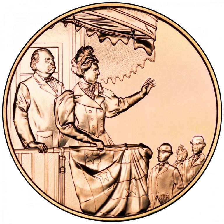 Frances Cleveland Second Term First Spouse Bronze Medal Reverse