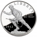 2012 Infantry Soldier Commemorative Silver One Dollar Proof Obverse
