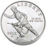 2012 Infantry Soldier Commemorative Silver One Dollar Uncirculated Obverse