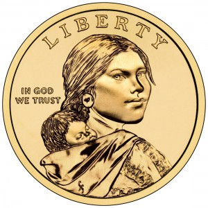 2012 Native American One Dollar Uncirculated Obverse