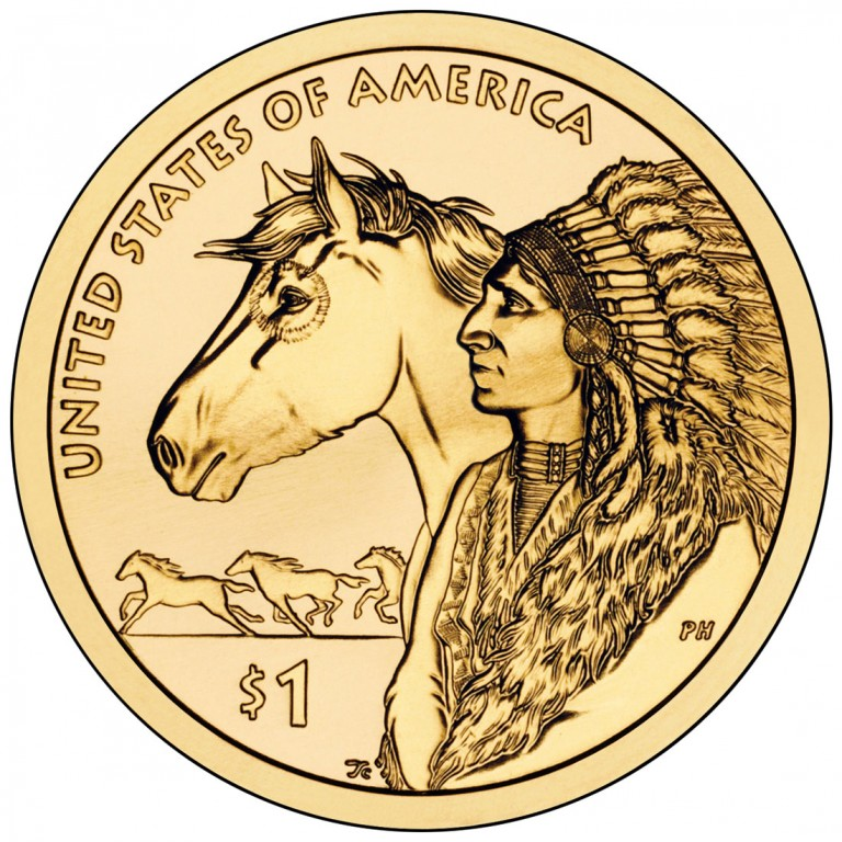 2012 Native American One Dollar Uncirculated Reverse