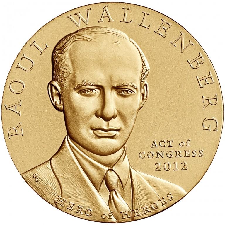 Raoul Wallenberg Bronze Medal Obverse