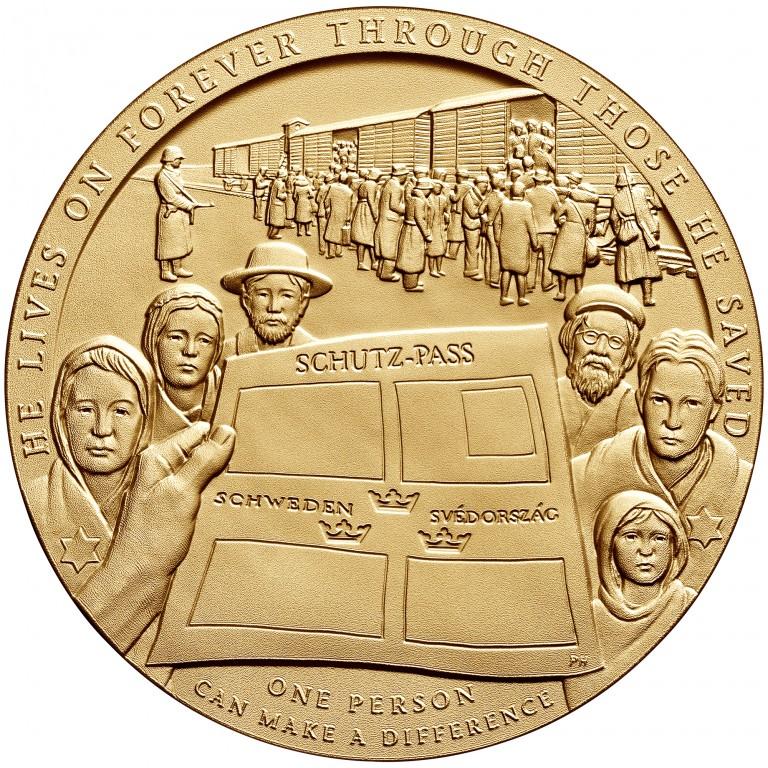 Raoul Wallenberg Bronze Medal Reverse