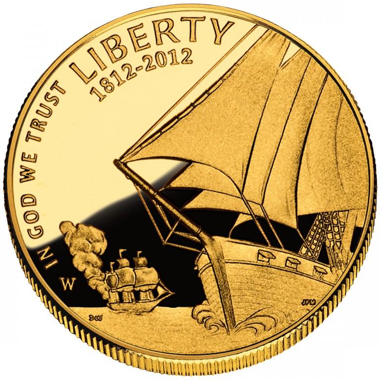 2012 Star Spangled Banner Commemorative Gold Five Dollar Proof Obverse