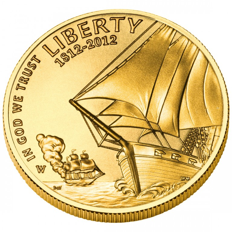 2012 Star Spangled Banner Commemorative Gold Five Dollar Uncirculated Obverse