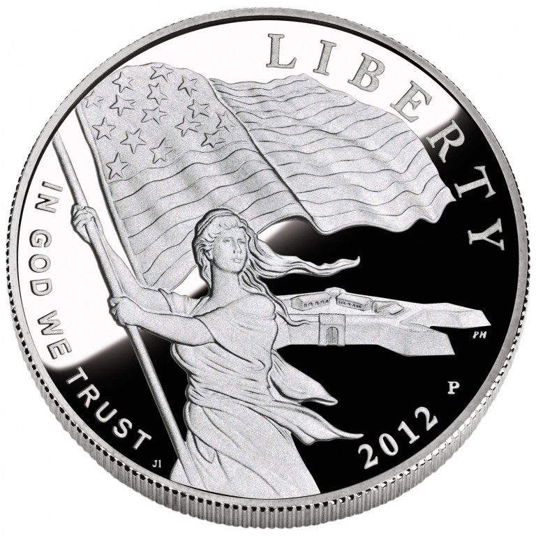 2012 Star Spangled Banner Commemorative Silver One Dollar Proof Obverse