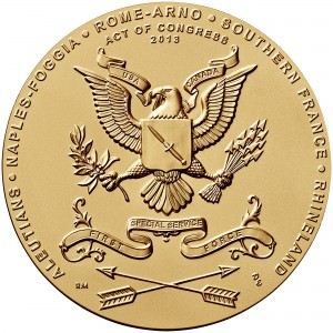2013 First Special Service Force Bronze Medal Reverse