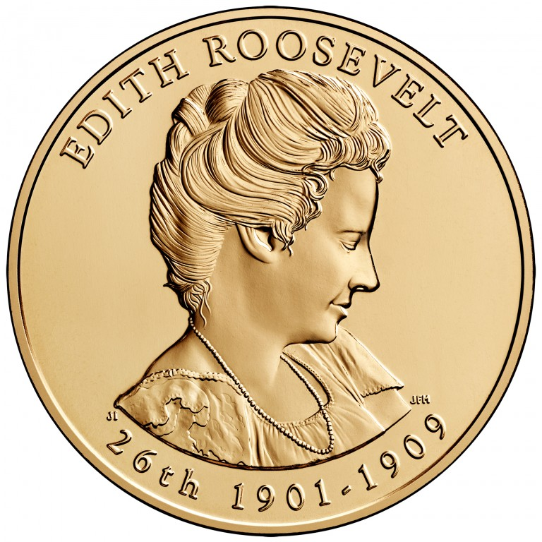 Edith Roosevelt First Spouse Bronze Medal Obverse