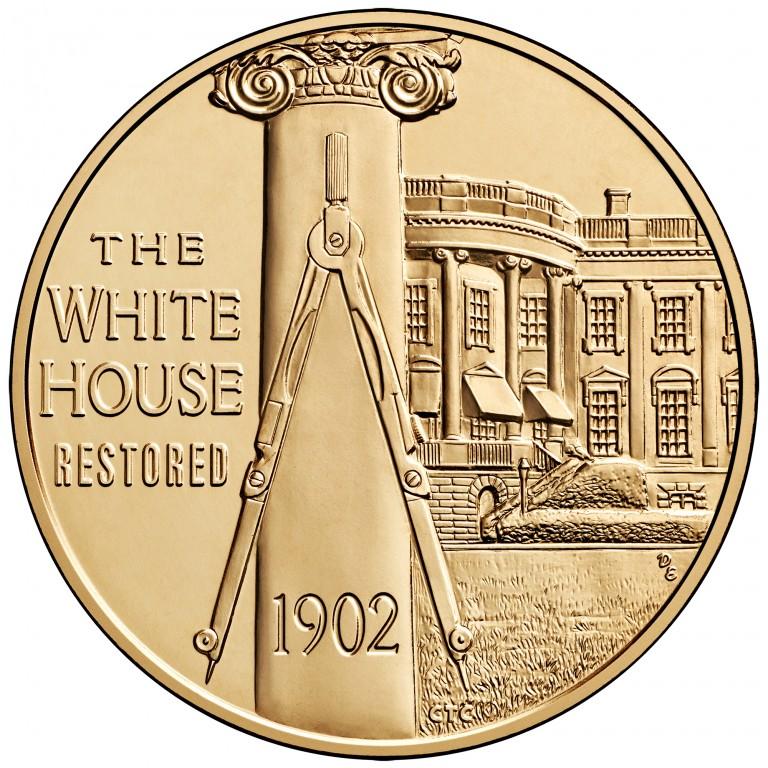 Edith Roosevelt First Spouse Bronze Medal Reverse