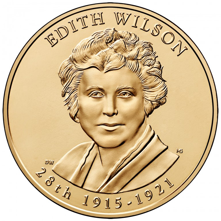 Edith Wilson First Spouse Bronze Medal Obverse