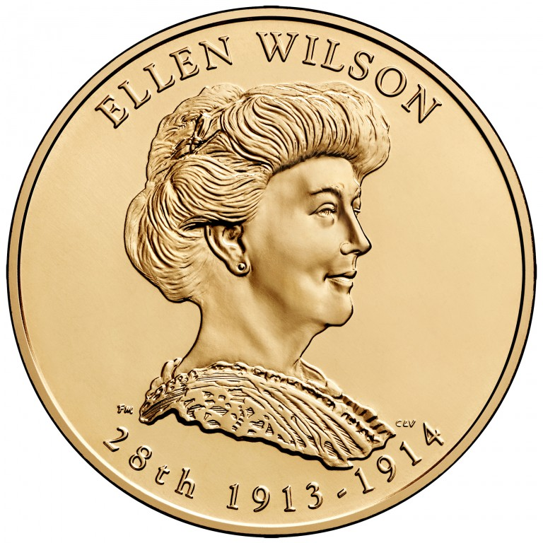 Ellen Wilson First Spouse Bronze Medal Obverse