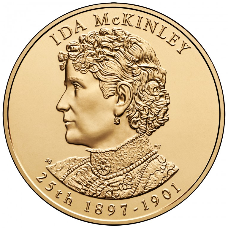 Ida McKinley First Spouse Bronze Medal Obverse