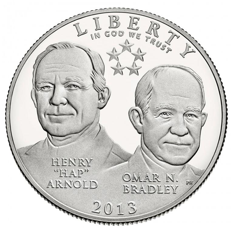 2013 Five Star Generals Commemorative Clad Half Dollar Proof Obverse