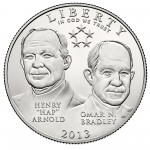 2013 Five Star Generals Commemorative Clad Half Dollar Uncirculated Obverse