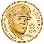 2013 Five Star Generals Commemorative Gold Five Dollar Proof Obverse