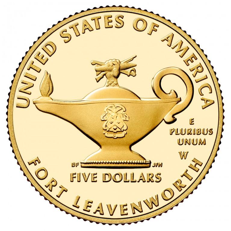 2013 Five Star Generals Commemorative Gold Five Dollar Proof Reverse