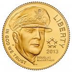 2013 Five Star Generals Commemorative Gold Five Dollar Uncirculated Obverse