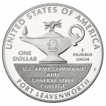 2013 Five Star Generals Commemorative Silver One Dollar Proof Reverse