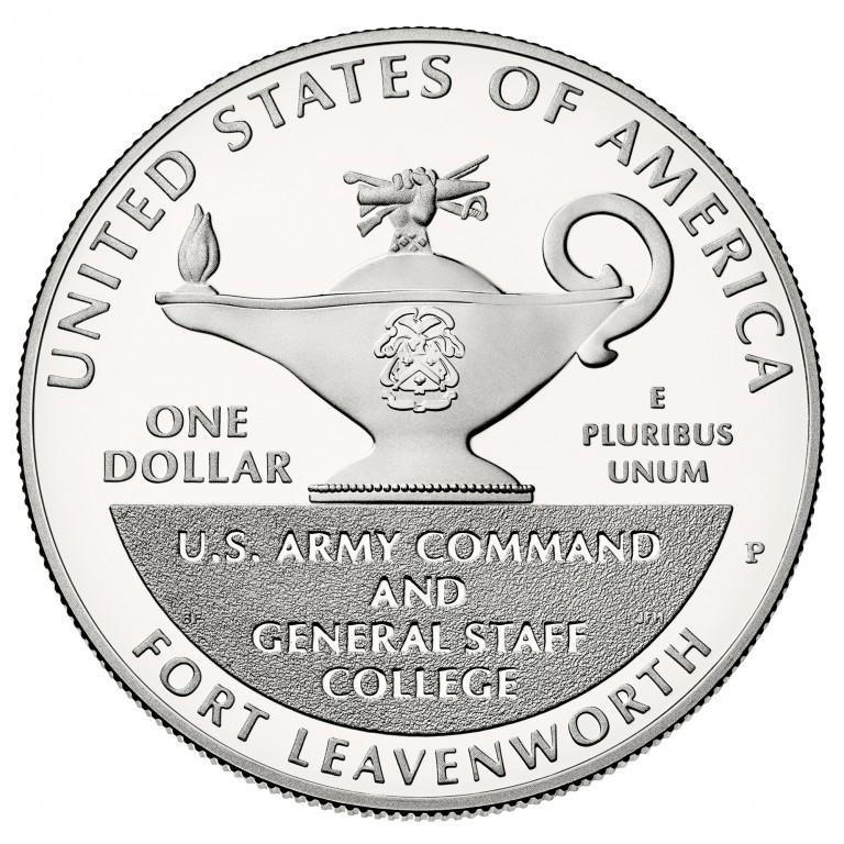 2013 Five Star Generals Commemorative Silver One Dollar Proof Reverse