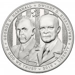2013 Five Star Generals Commemorative Silver One Dollar Uncirculated Obverse