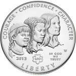 2013 Girl Scouts Centennial Commemorative Silver One Dollar Uncirculated Obverse