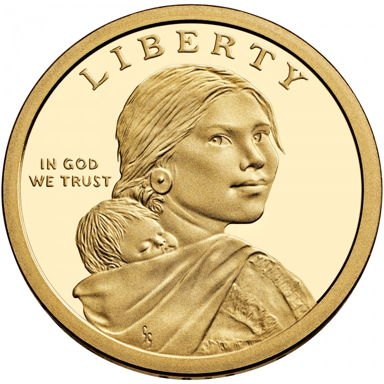 2013 Native American One Dollar Proof Obverse