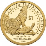 2013 Native American One Dollar Proof Reverse
