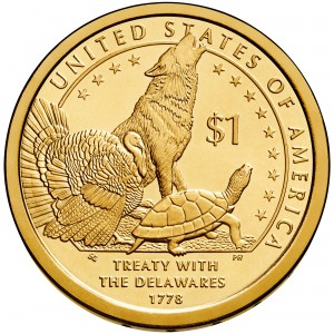 2013 Native American One Dollar Uncirculated Reverse