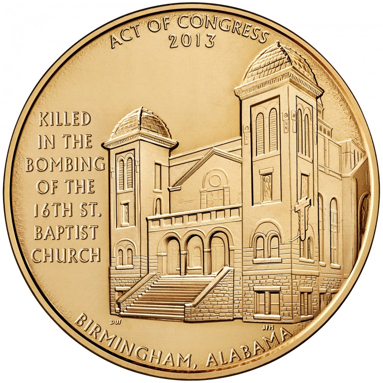 2013 Sixteenth Street Baptist Church Bronze Medal One And One Half Inch Reverse