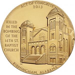 2013 Sixteenth Street Baptist Church Bronze Medal Three Inch Reverse