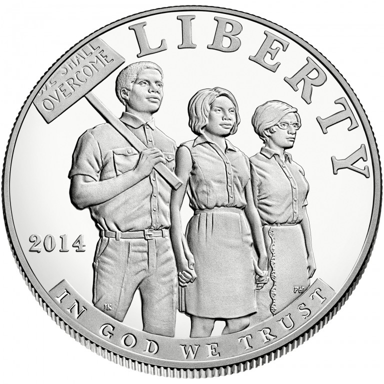 civil rights act of 1964 silver dollar u s mint