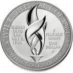 2014 Civil Rights Act Of 1964 Commemorative Silver One Dollar Proof Reverse