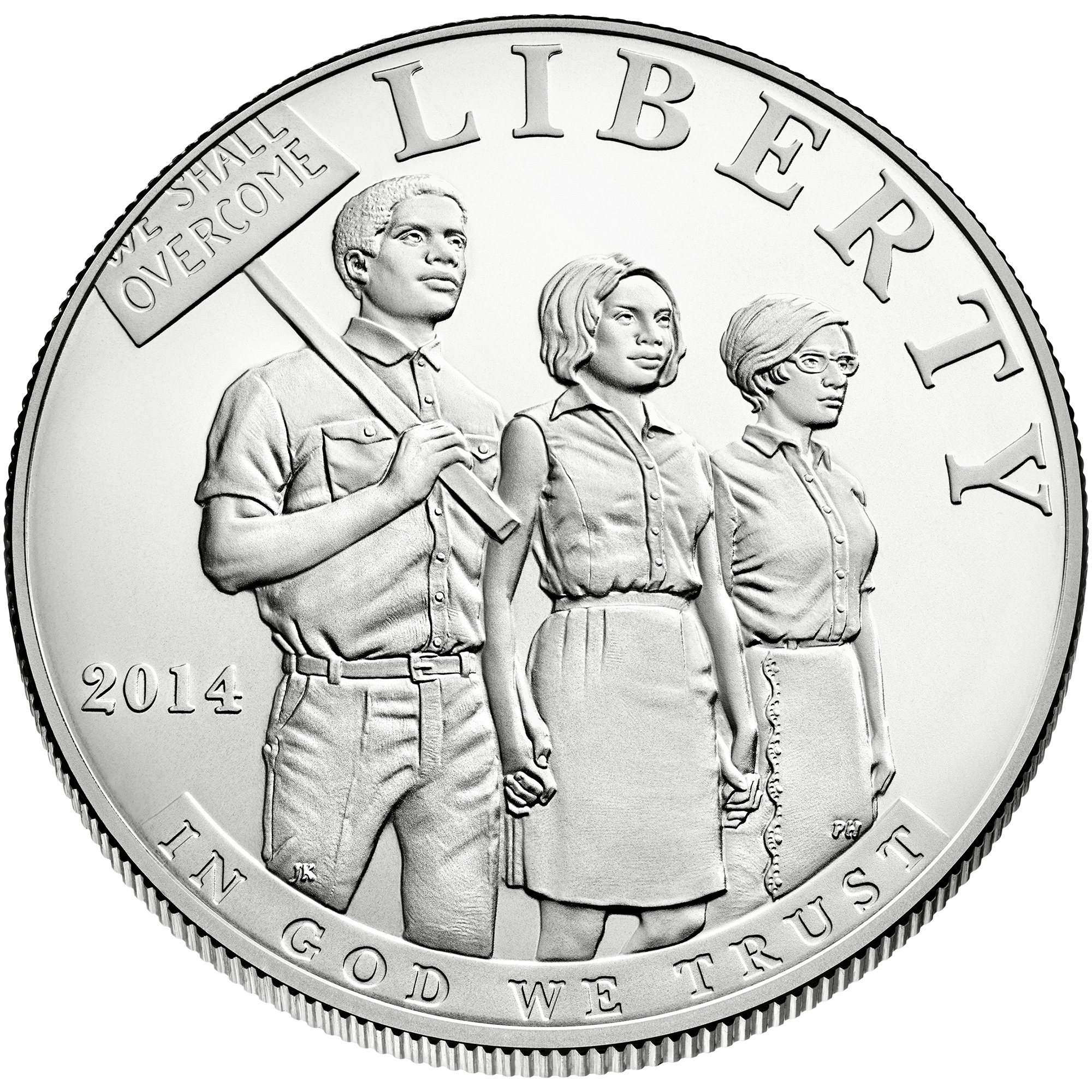 2014 Civil Rights Act Of 1964 Commemorative Silver One Dollar Uncirculated Obverse