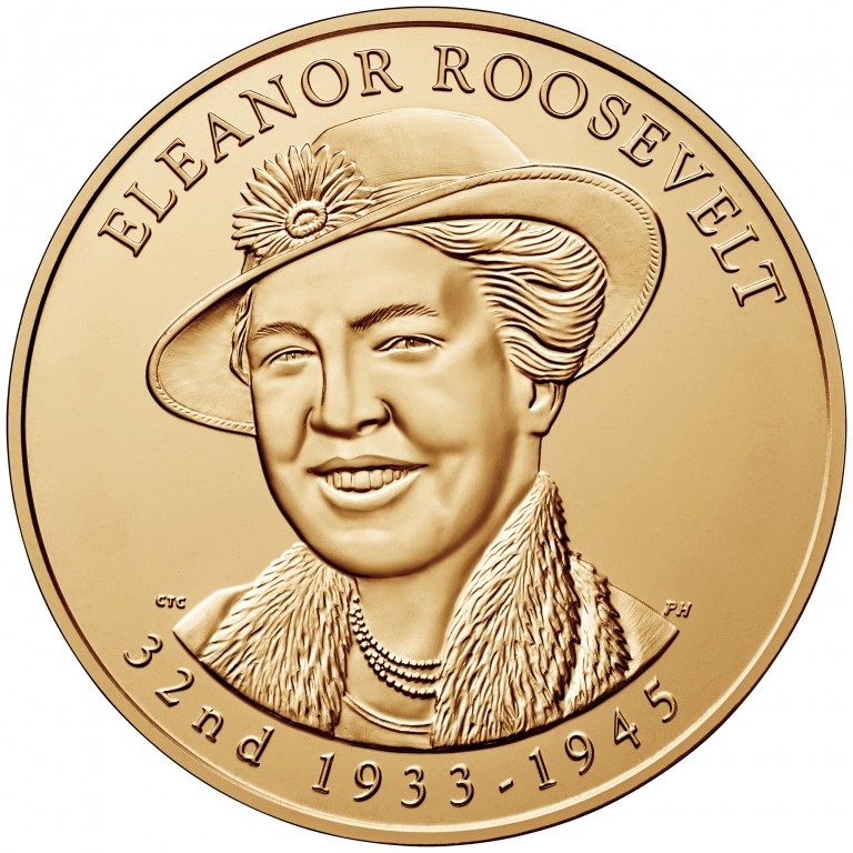 Eleanor Roosevelt First Spouse Bronze Medal Obverse