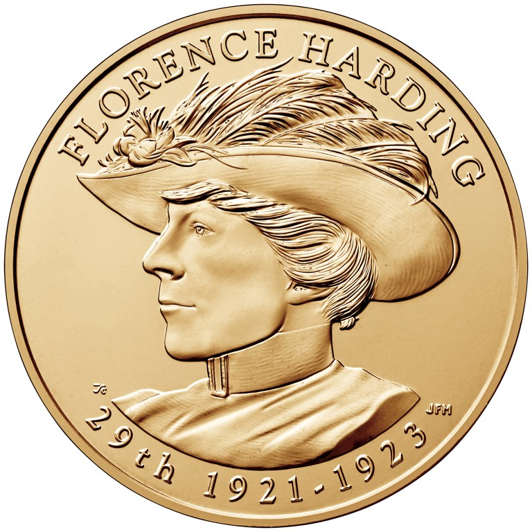 Florence Harding First Spouse Bronze Medal Obverse