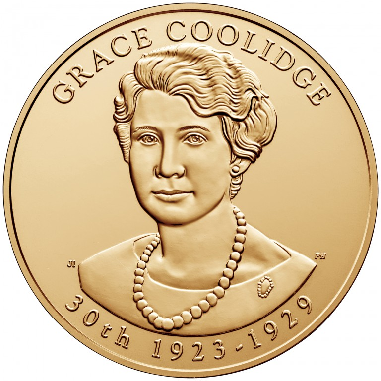 Grace Coolidge First Spouse Bronze Medal Obverse