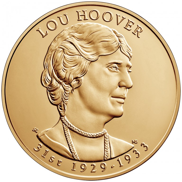 Lou Hoover First Spouse Bronze Medal Obverse