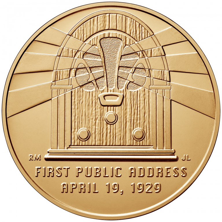 Lou Hoover First Spouse Bronze Medal Reverse