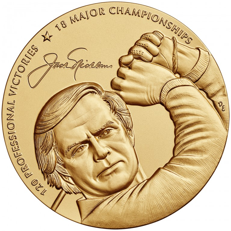 2014 Jack Nicklaus Bronze Medal Three Inch Obverse