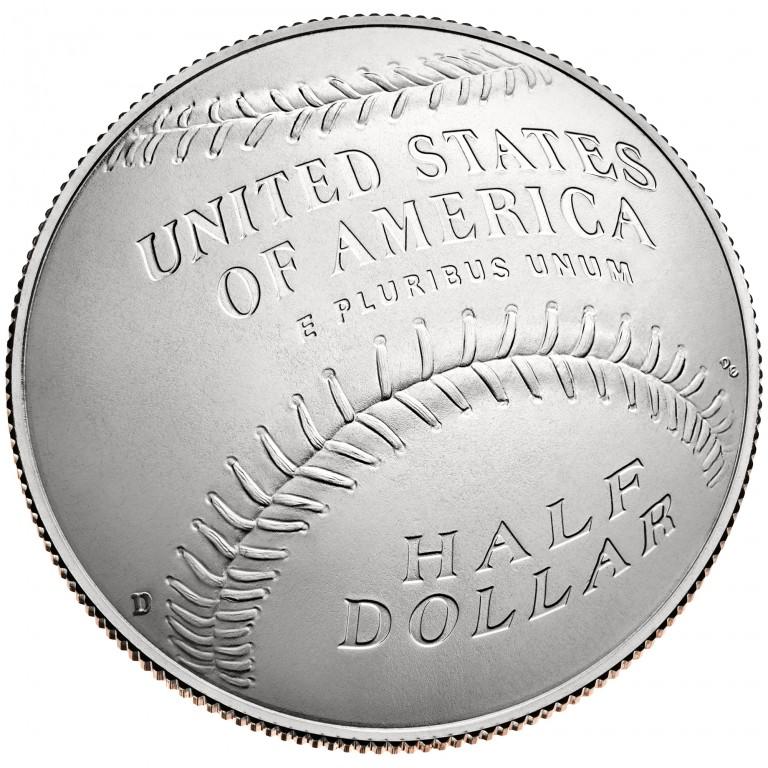 2014 National Baseball Hall Of Fame Commemorative Clad Half Dollar Uncirculated Reverse