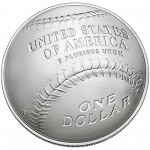 2014 National Baseball Hall Of Fame Commemorative Silver One Dollar Uncirculated Reverse