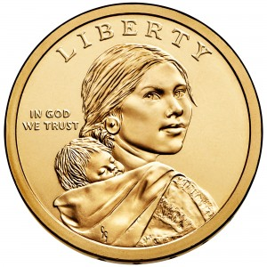 2014 Native American One Dollar Uncirculated Obverse