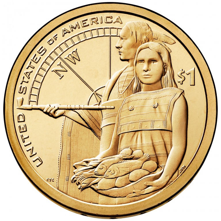 2014 Native American One Dollar Uncirculated Reverse
