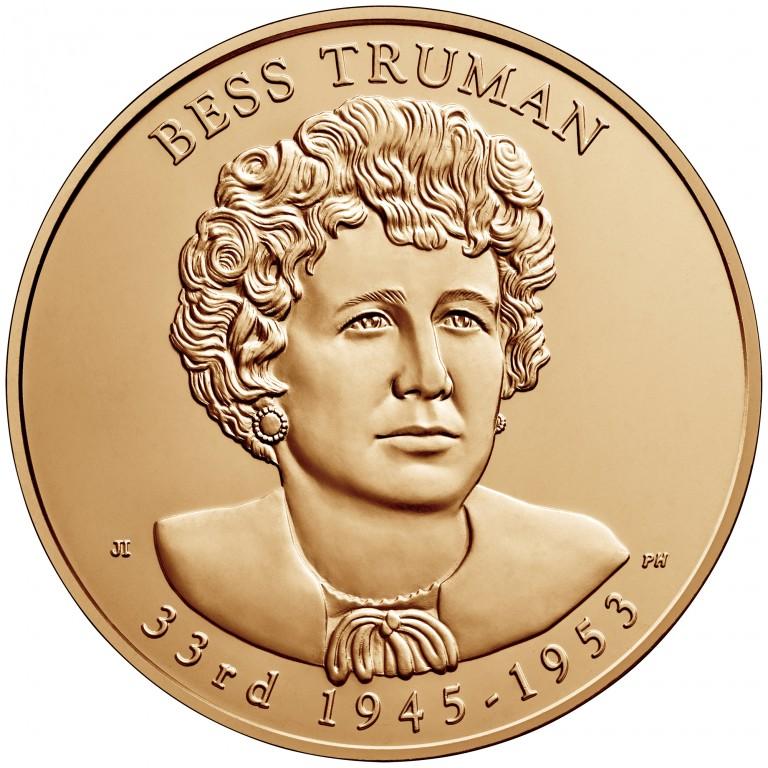 Bess Truman First Spouse Bronze Medal Obverse