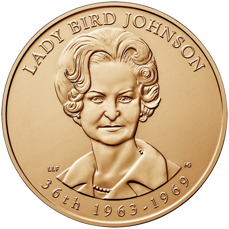 Lady Bird Johnson First Spouse Bronze Medal Obverse