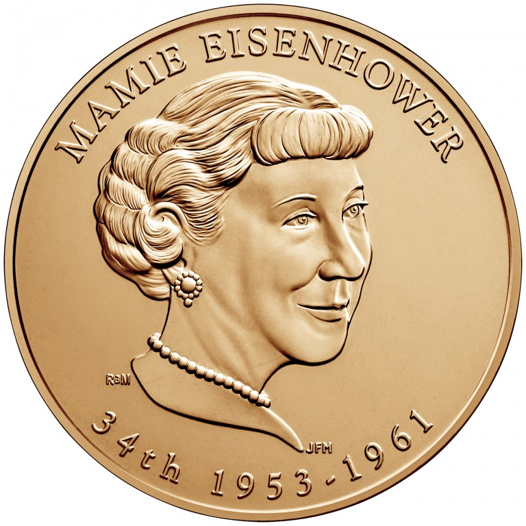 Mamie Eisenhower First Spouse Bronze Medal Obverse