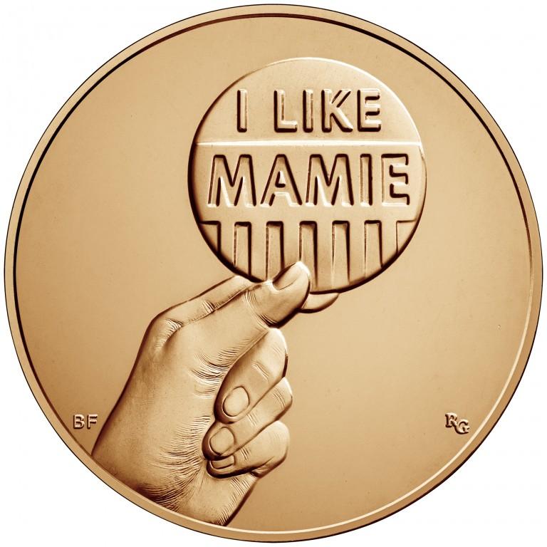 Mamie Eisenhower First Spouse Bronze Medal Reverse