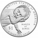 2015 March Of Dimes Commemorative Silver One Dollar Proof Reverse