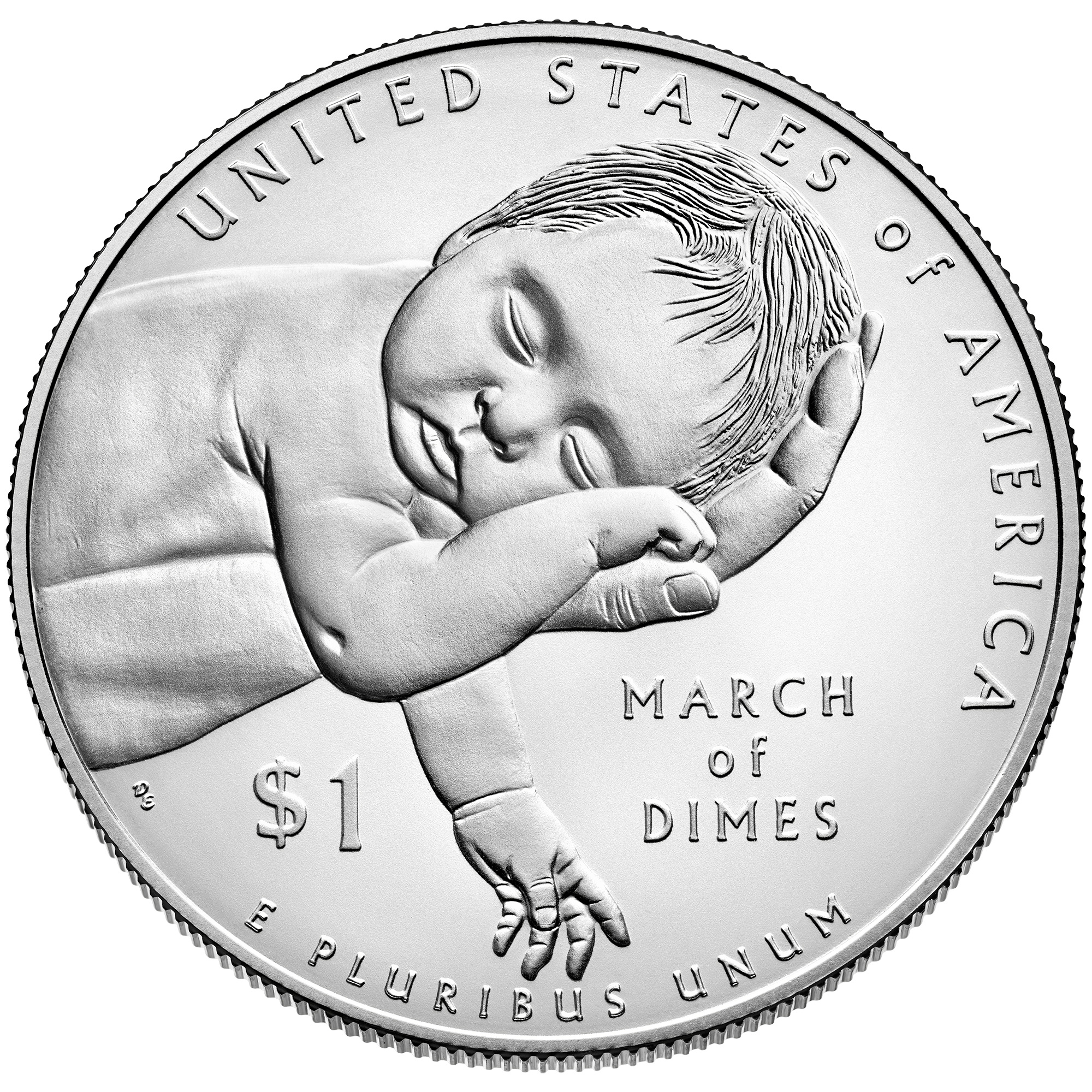 2015 March Of Dimes Commemorative Silver One Dollar Uncirculated Reverse